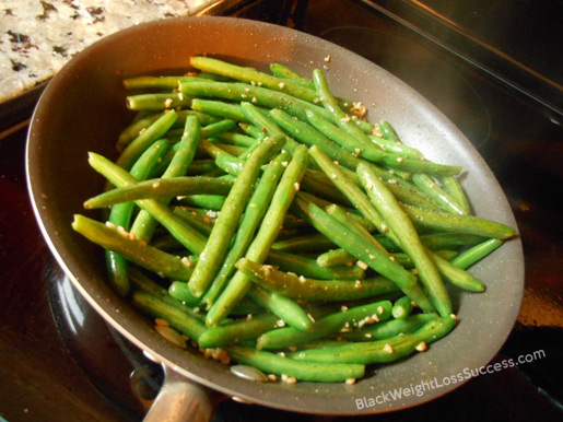 green beans garlic