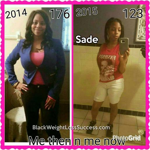 sade weight loss story