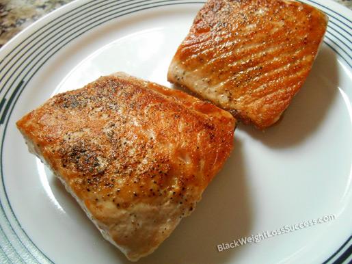 seared salmon fillet