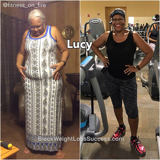Lucy before and after
