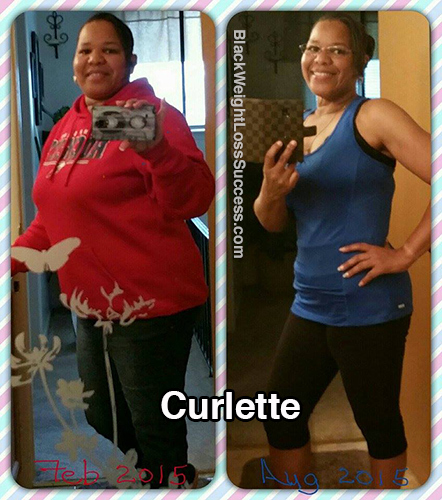 Curlette before and after