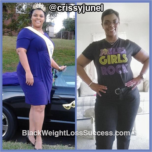 crissy before and after