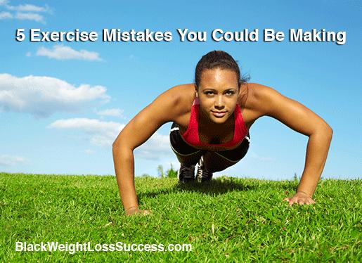 exercise mistakes