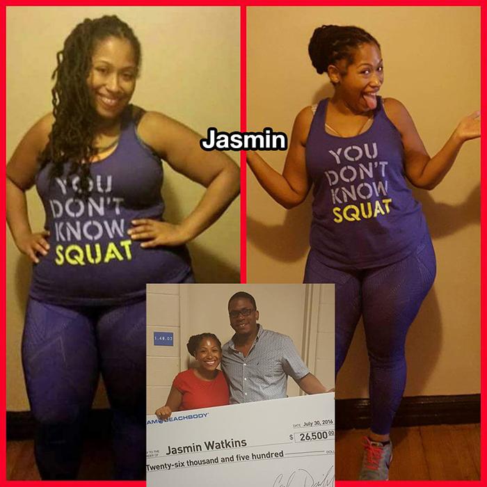 Jasmin beachbody challenge