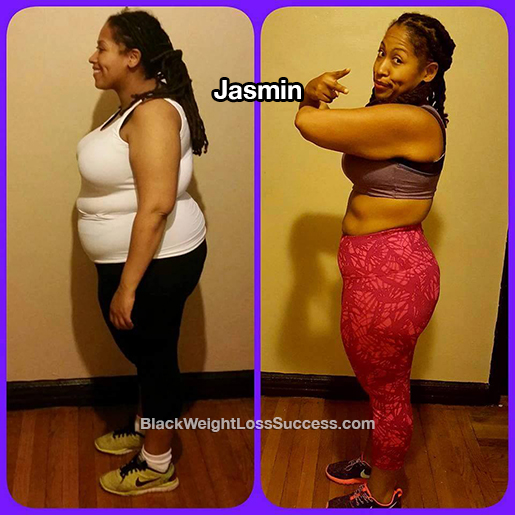 Jasmin lost 63 pounds | Black Weight Loss Success