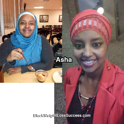 asha weight loss story