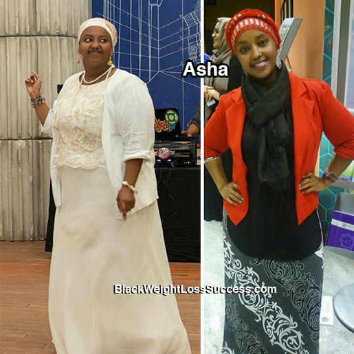 asha before and after