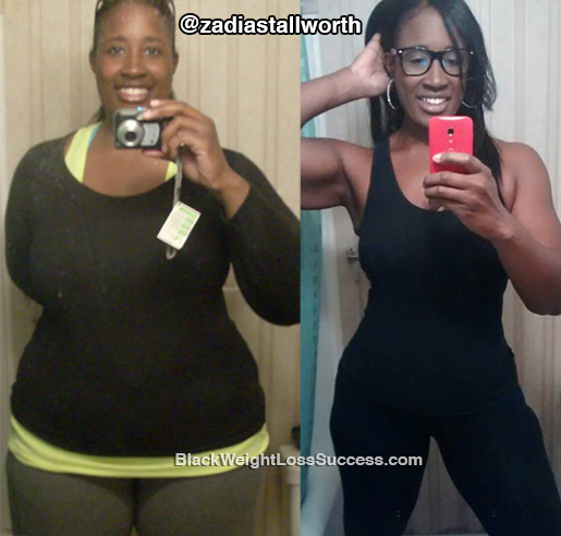 Zadia before and after