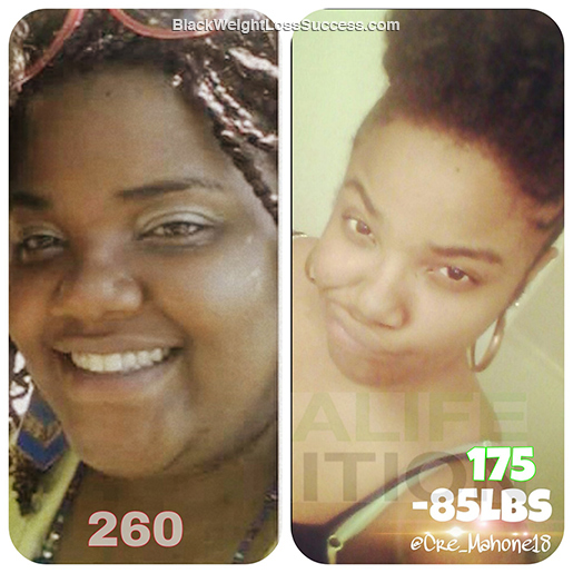 Cre's weight loss story
