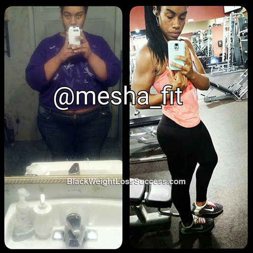 mesha before and after