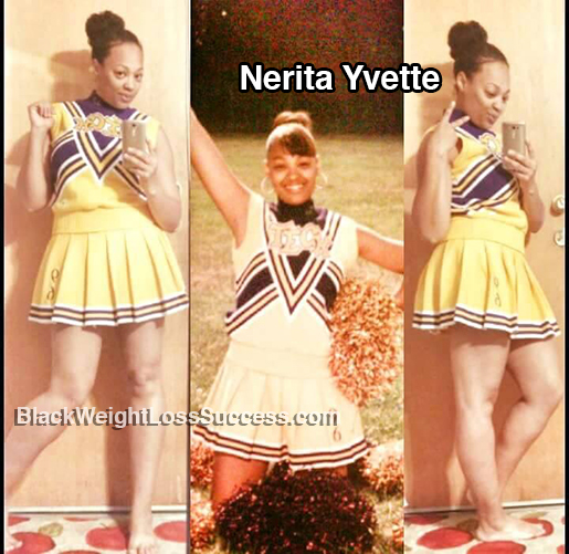 nerita fits into old cheerleader outfit