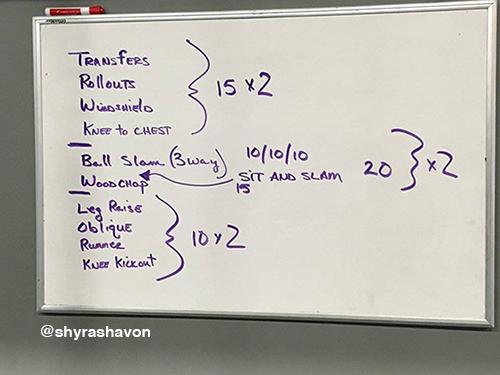 shyra intense exercise routine