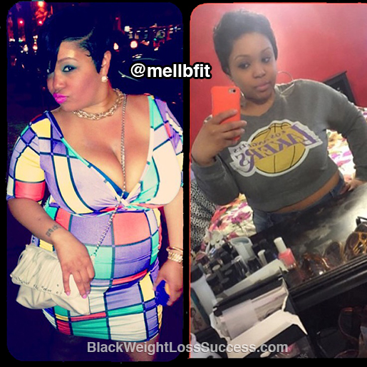 mellenie before and after