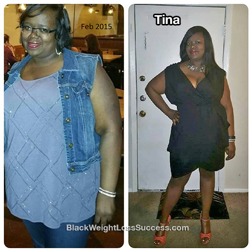 tina before and after