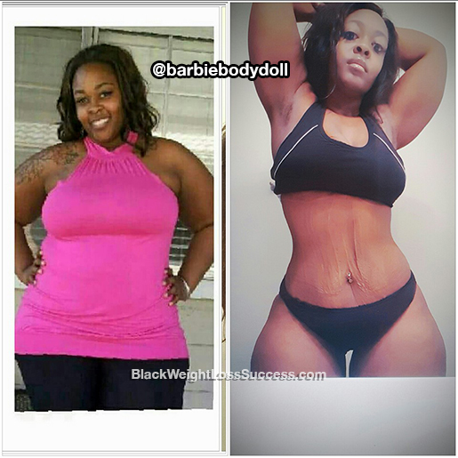 Monique lost 130 pounds | Black Weight Loss Success
