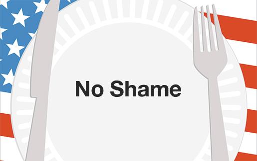 no shame eating