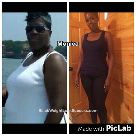 monica before and after