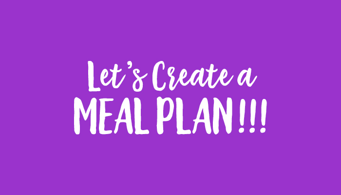 lets create a meal plan
