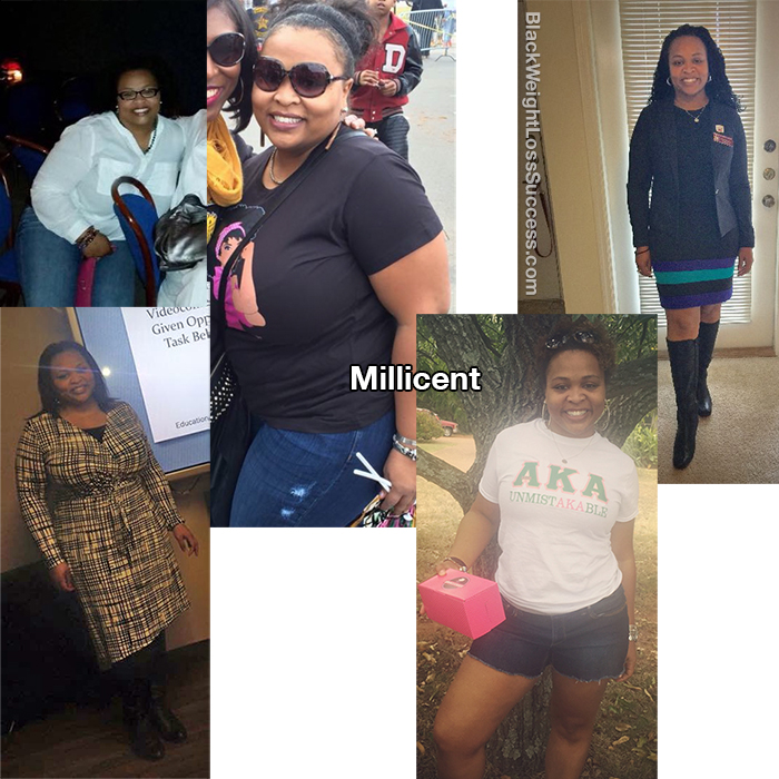 Millicent before and after