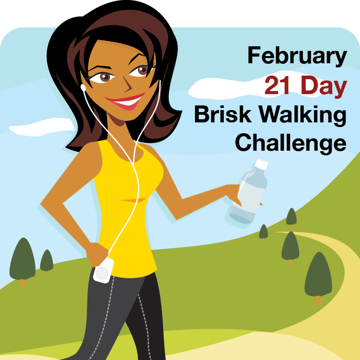 brisk walking challenge