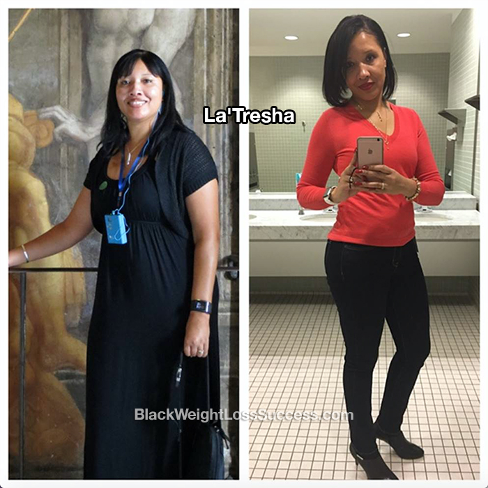 La'Tresha before and after