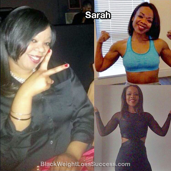 Sarah before and after