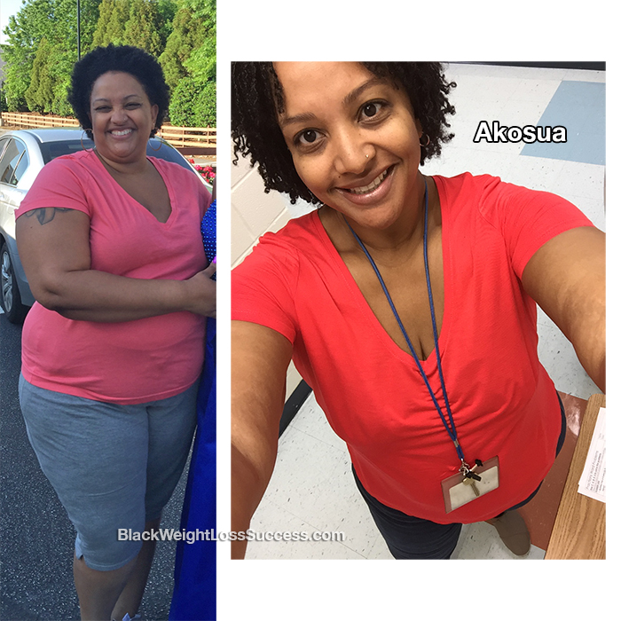 akosua weight loss