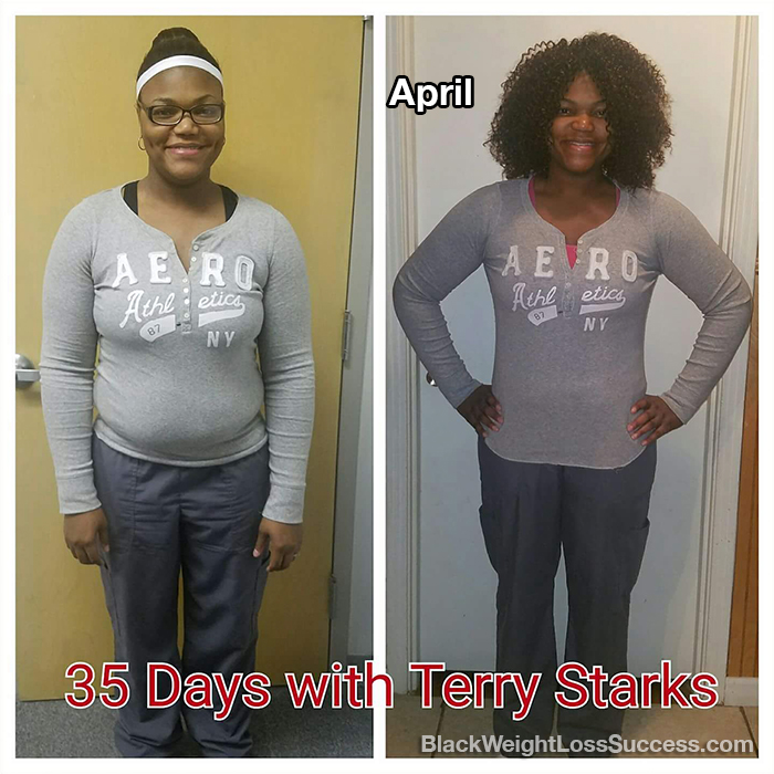 April before and after