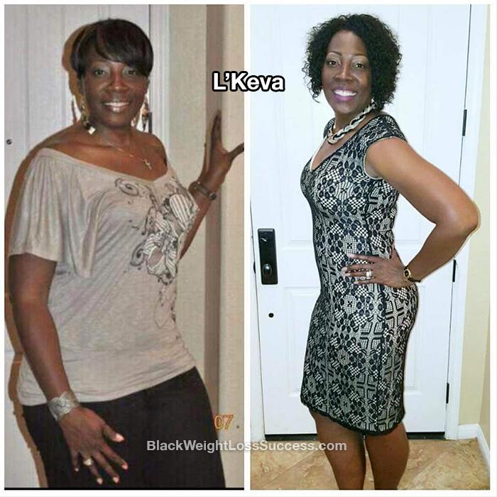 L'Keva lost 56 pounds   Black Weight Loss Success