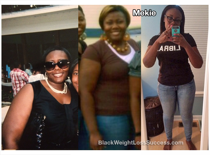 Mekie before and after