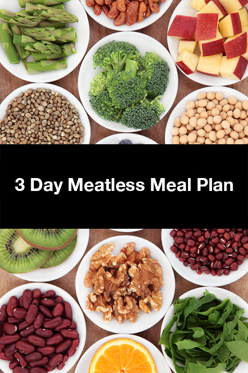 3 day meatless meal plan