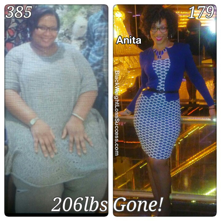 Anita before and after