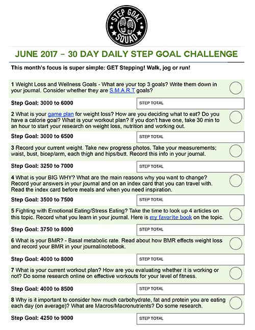 june challenge calendar