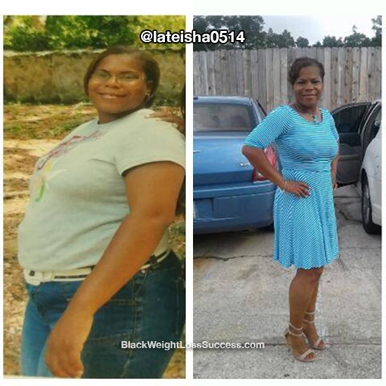 LaTisha before and after