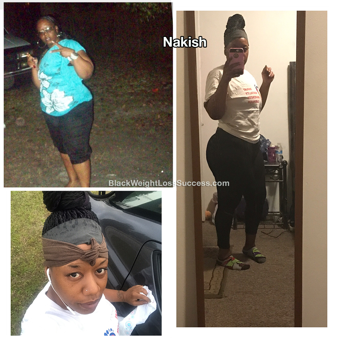 Nakish lost 122 pounds