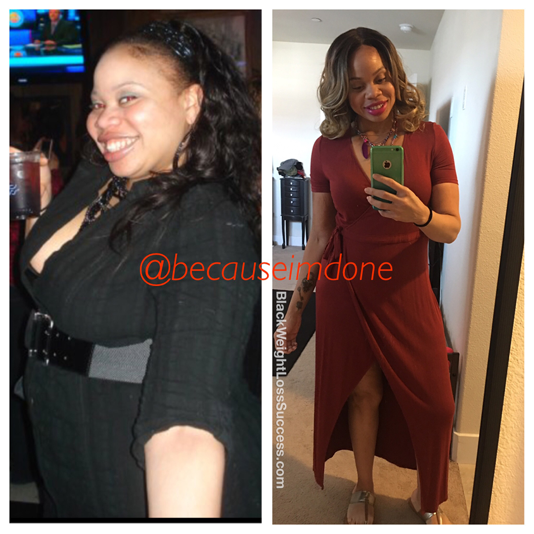 Tahliesha lost 105 pounds