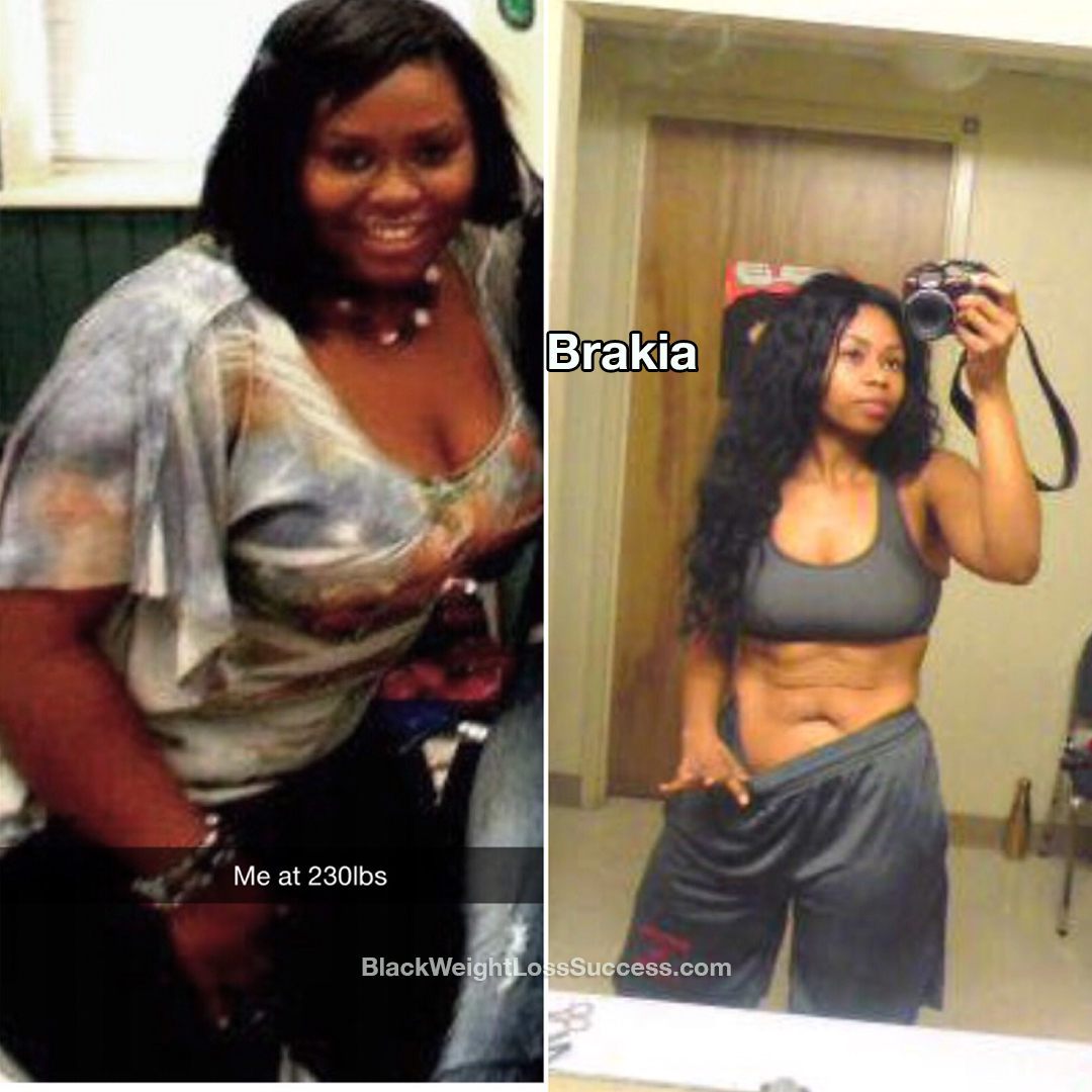 brakia lost 90 pounds