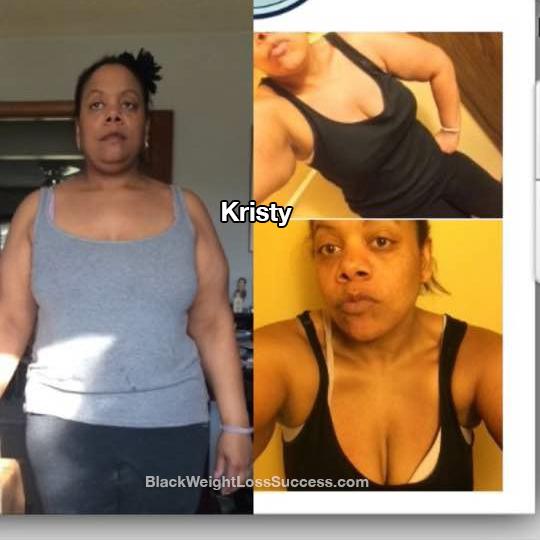 Kristy lost 50 pounds