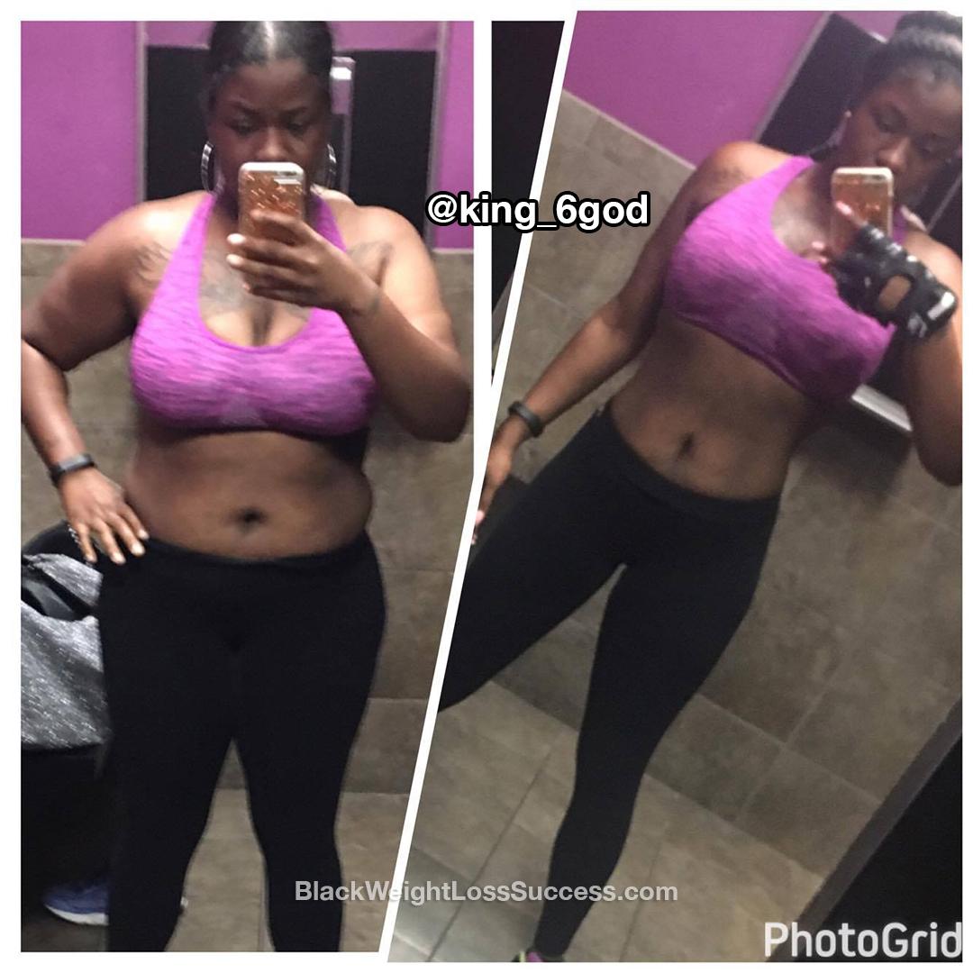 Nalla lost 55 pounds
