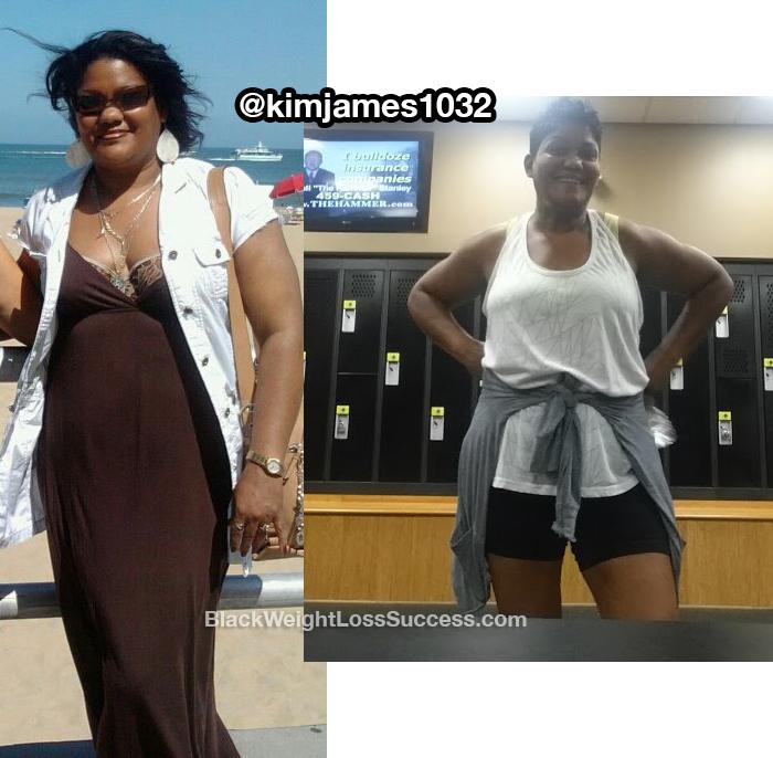 Kim lost 40 pounds