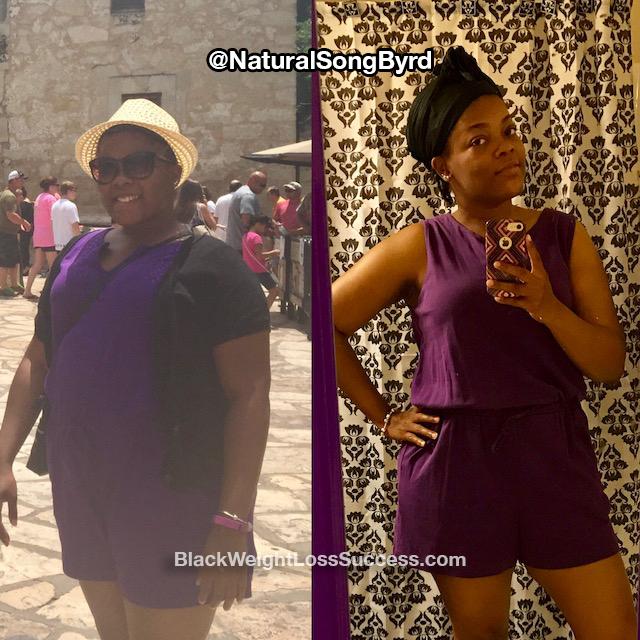 Marquisha lost 40 pounds
