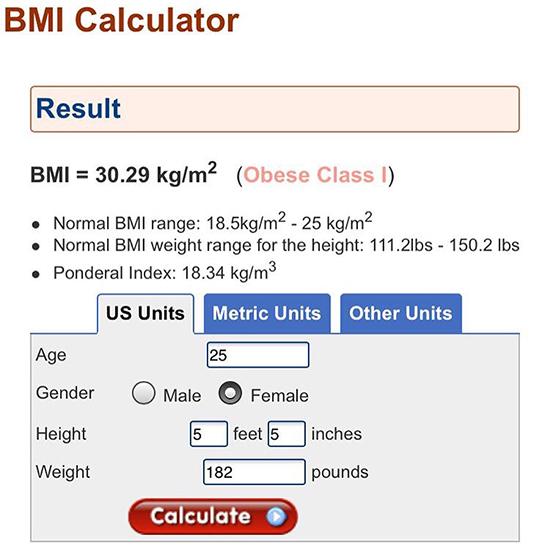Kimberly BMI