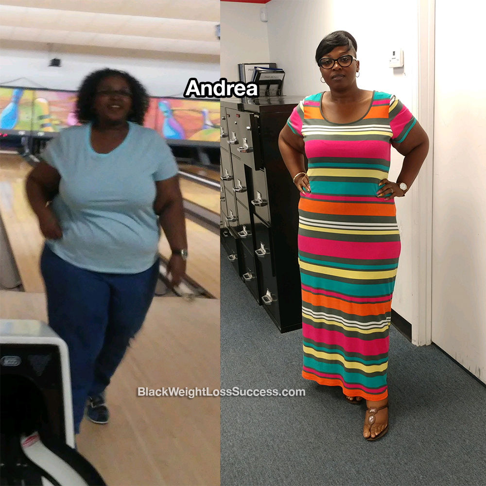 andrea before and after