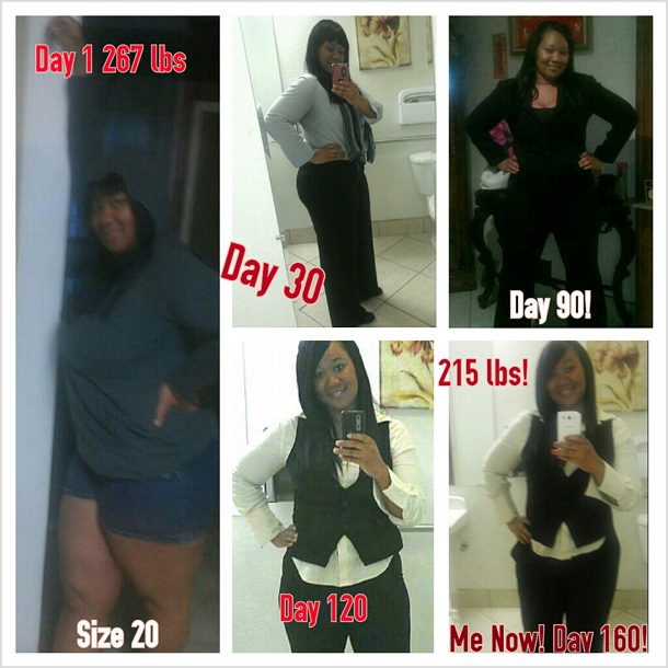 Wyteika lost 52 pounds   Black Weight Loss Success