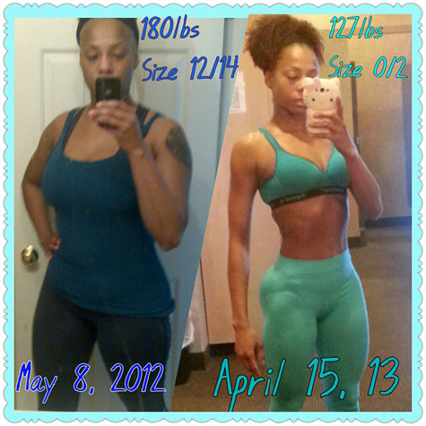 nicole lost 53 pounds  black weight loss success