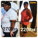 Jaymee lost 50 pounds