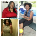 Crysta weight loss before and after
