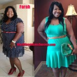 Farah lost 75 pounds