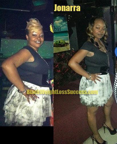 Jonarra lost 61 pounds | Black Weight Loss Success