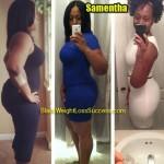 Samentha lost 40 pounds